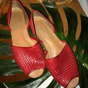Franco Sarto Artist Collection Woven Leather shoes